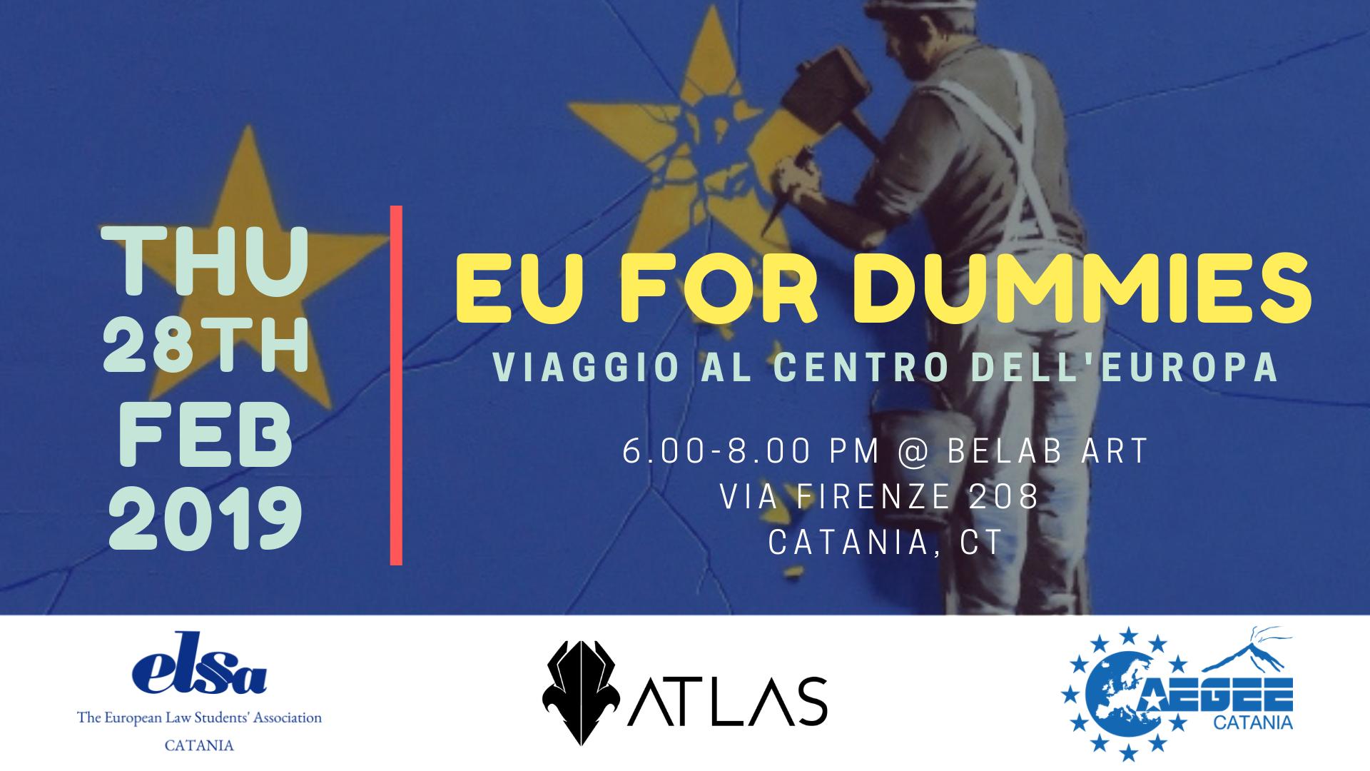 Spiegare l'Europa agli europei? Ci prova ATLAS con EU for dummies